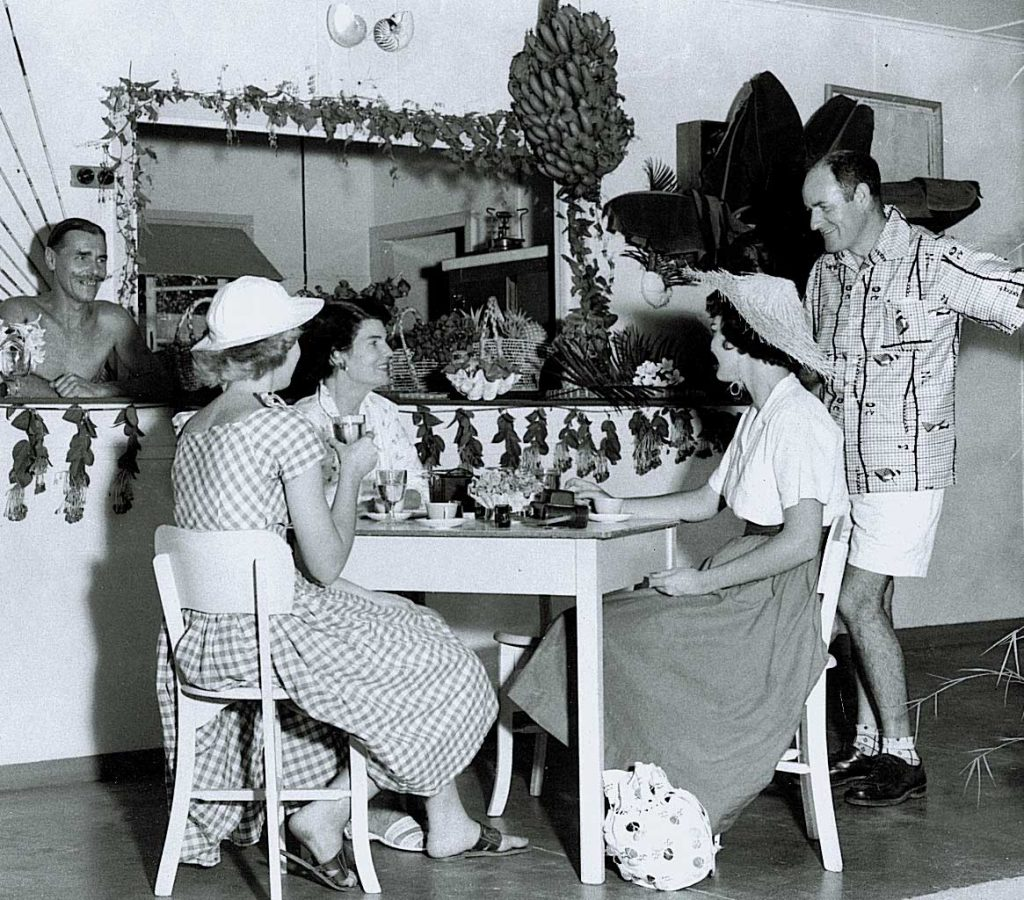 Dinner party at Nautilus in the 1950s