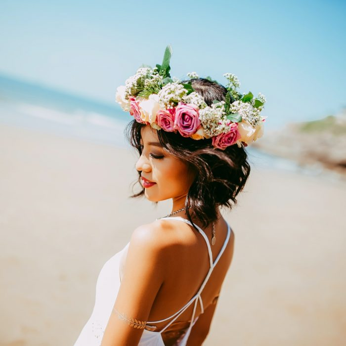 tropical bride on beach