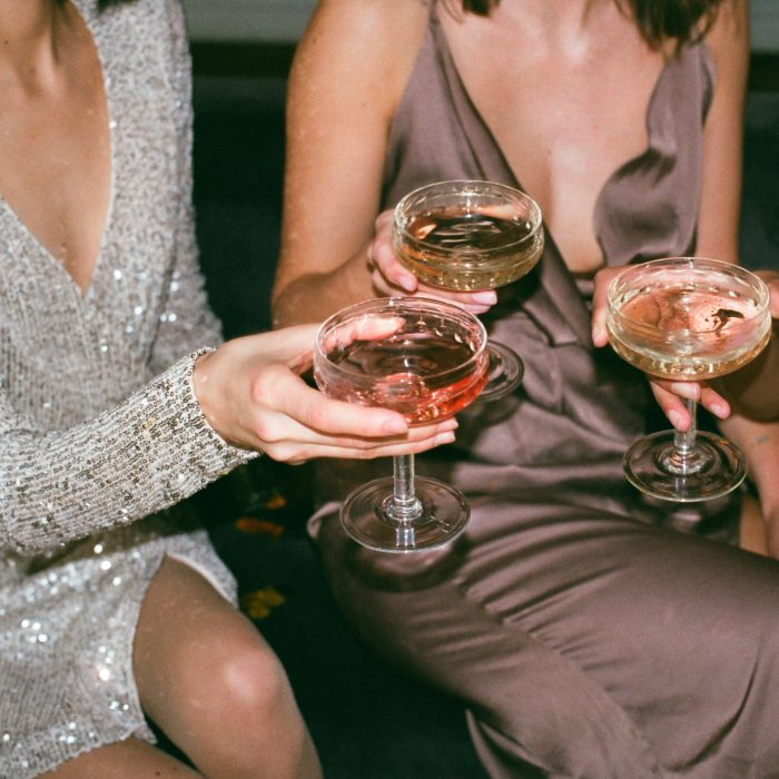 Ladies drinking champagne